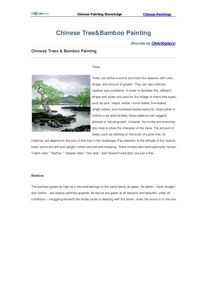 Chinese Painting Knowledge                         Chinese Paintings                  Chinese Tree&Bamboo Painting        ...