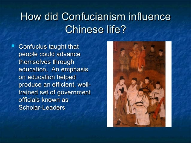 how confuciuss teachings influenced chinese way of life The entire wikipedia with video and photo galleries for each article find something interesting to watch in seconds.
