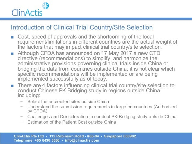 What are bridging studies? Are they phase I clinical trials?