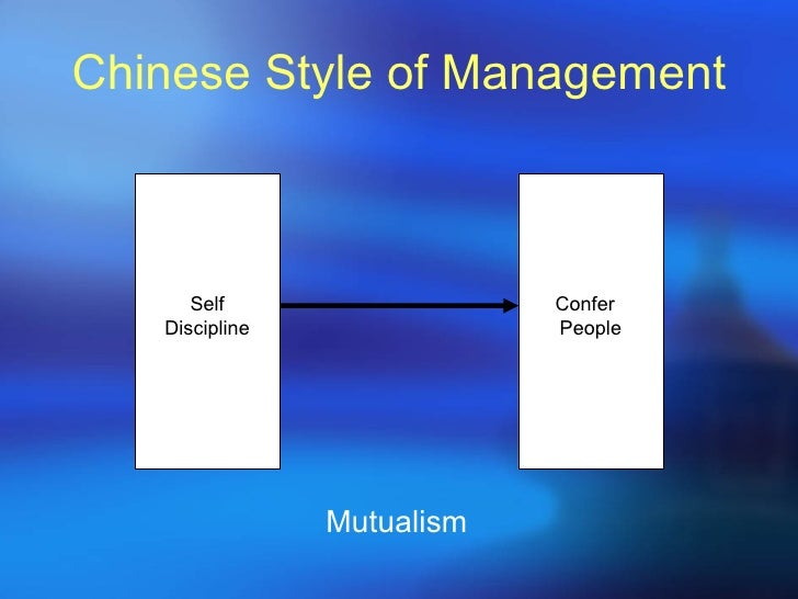 chinese management styles It's time to embrace chinese-style wisdom and a  a foreign manager's guide to leading in china share on  chinese wisdom, western management style and .