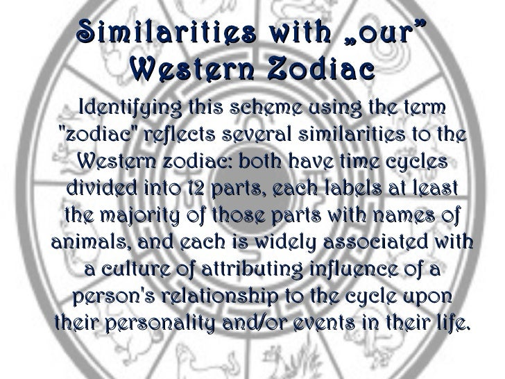 """Similarities         with """"our""""     Western           Zodiac    Identifying this scheme using the term """"zodiac"""" reflects s..."""