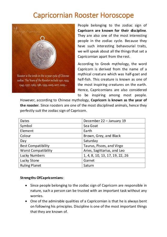 Chinese Zodiac Sign Of Capricorn