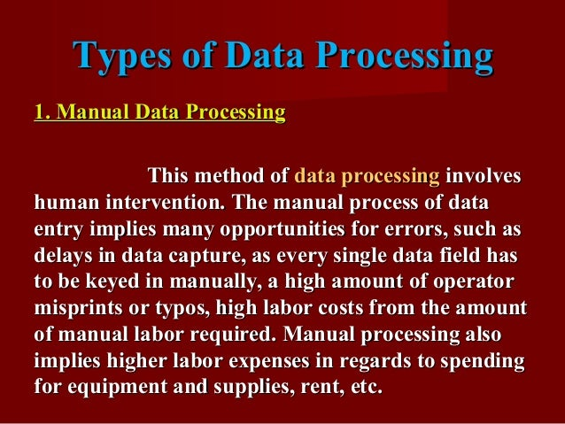 Data Processing | Meaning, Definition, Steps, Types and ...