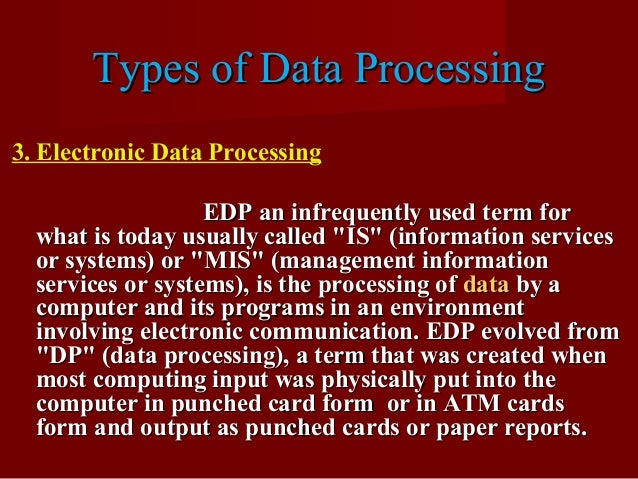 3 Examples of Electronic Data Processing - Simplicable