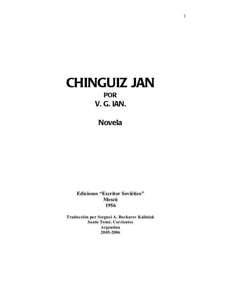 Chinguizja nprimero (Genghis Kan)