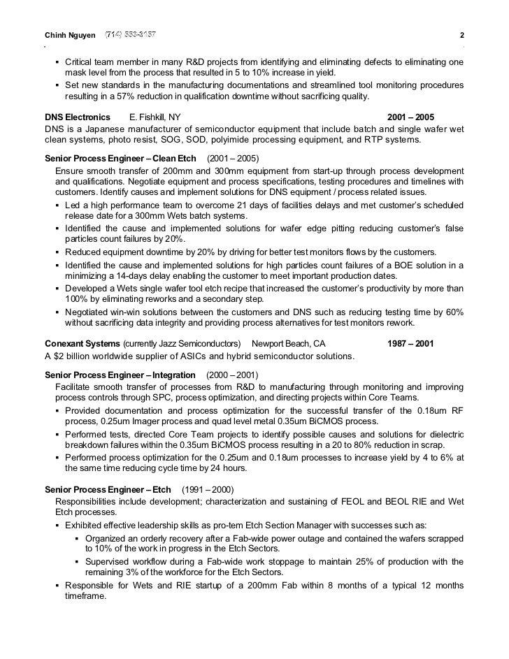 semiconductor resume - Ajan.ciceros.co
