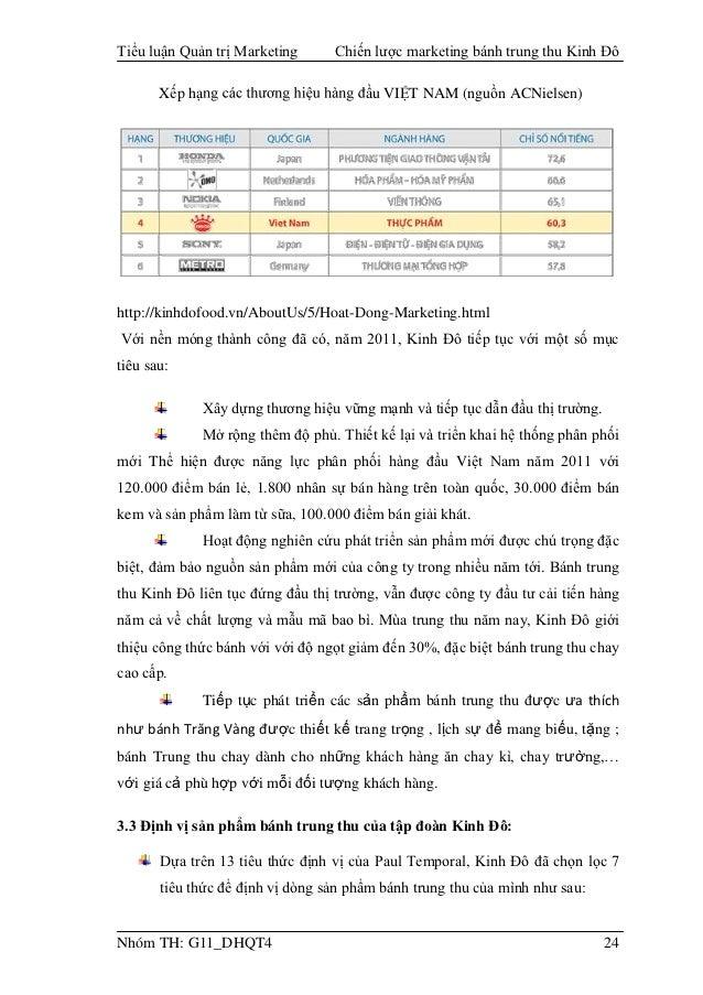 Chiến Lược Marketing B 225 Nh Trung Thu Kinh đ 244