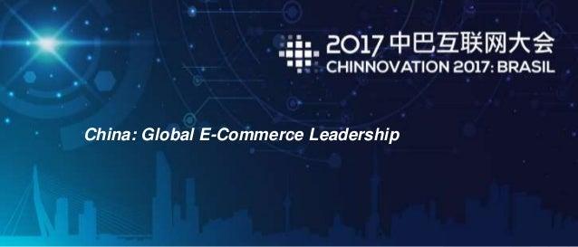 China: Global E-Commerce Leadership