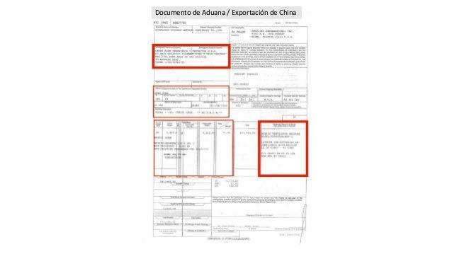 Documento de Aduana / Exportaci�n de China