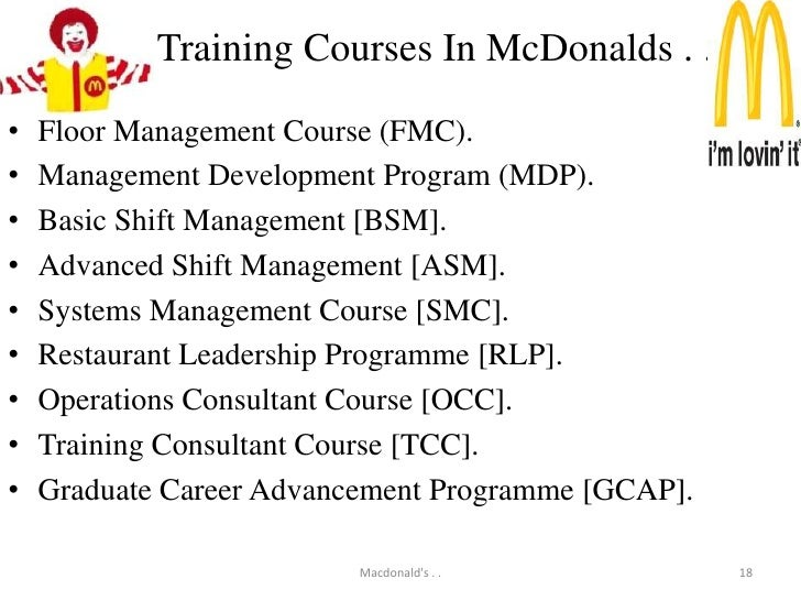 Recruitment and selection process at mcdonalds