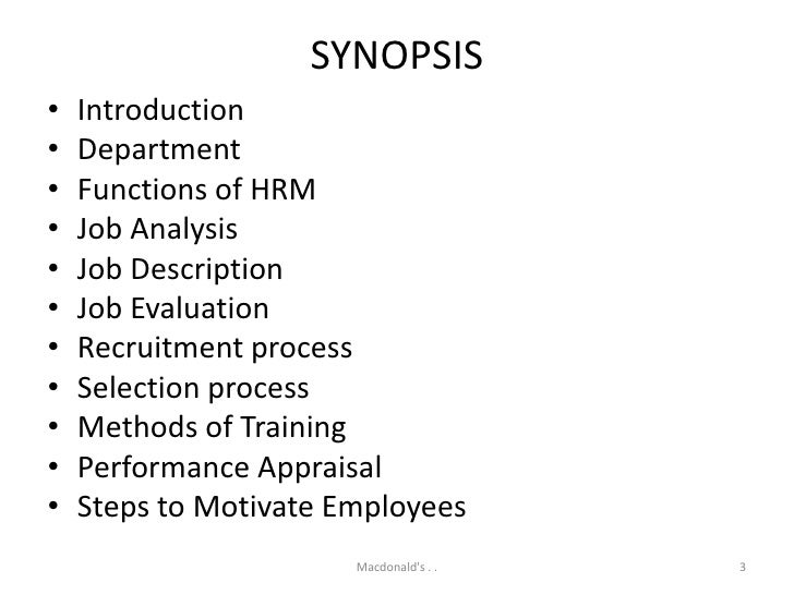 example of job analysis mcdonalds It is generally based on a job analysis and allows for the introduction of a new compensation system it thus implies the conduct of a strategic reflection in collaboration with the company's board (definition of company's dictionary of competencies, as well as of each position's location within the company's organizational chart, of its success.