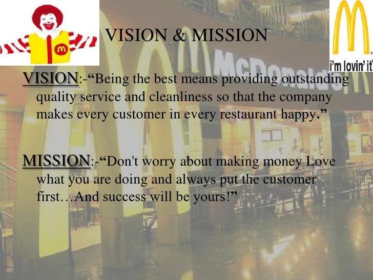 Mission statement of McDonald's