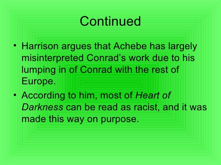 Heart of darkness essay by chinua achebe