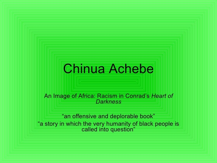 chinua achebe an image of africa thesis