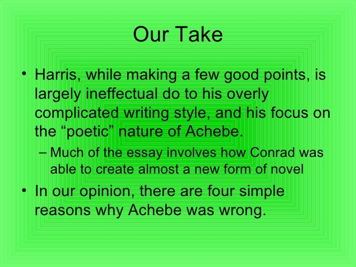 Essay On Nutritious Food Chinua Achebe Essays Chinua Achebe Out The Story We Are Blind Arts Chinua  Achebe Essays Chinua Achebe Out The Story We Are Blind Arts Essay Hooks also Jamaica Kincaid Essay Chinua Achebe Essay Essay Literary Definition