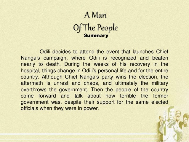 Summary a man of the people chinua achebe pdf