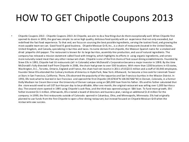 photograph relating to Chipotle Printable Coupon named Chipotle Discount coupons 2013 - Printable Chipotle Coupon codes 2013