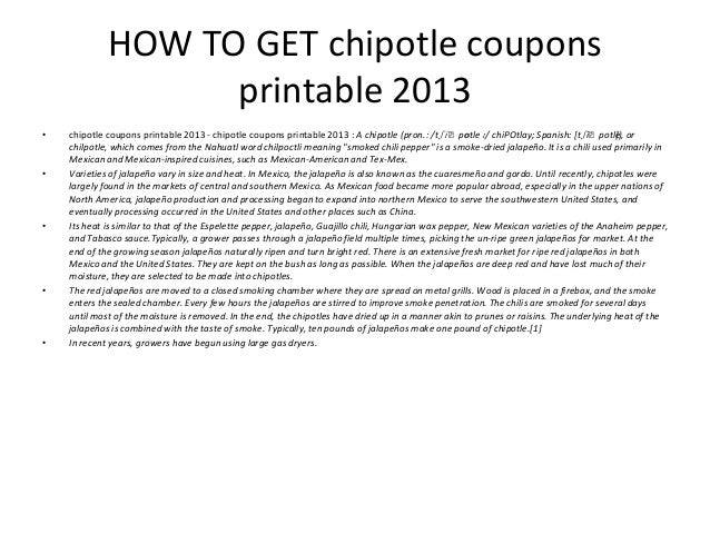 image relating to Chipotle Printable Coupons identify Chipotle coupon codes printable 2013