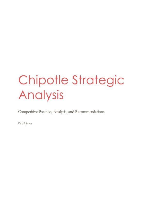 chipotle market essay It was formed in 1993 and went public in 2006 it has the largest market share in the mexican-type food segment with a net income of more than $126m in 2009 (mergent online, 2010).