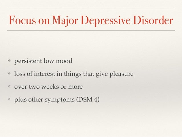 case study of someone with major depressive disorder By dr cheryl lane, phd diagnoses for sample case studies the following are sample diagnoses for the sample case studies on this page case study 1 major depressive disorder (single episode.