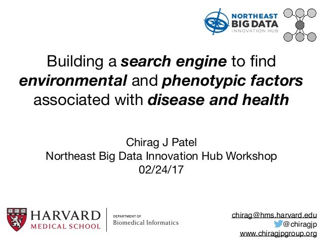 Building a search engine to find environmental and phenotypic factors associated with disease and health Chirag J Patel  No...