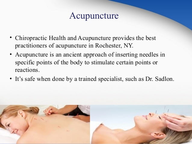 Chiropractic and Acupuncture Consultant in Rochester, NY