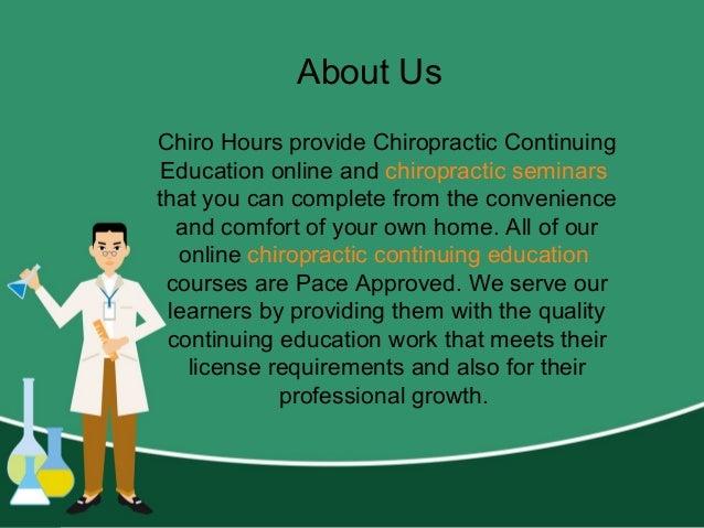 Chiropractic Seminars - Chiro Hours Slide 2