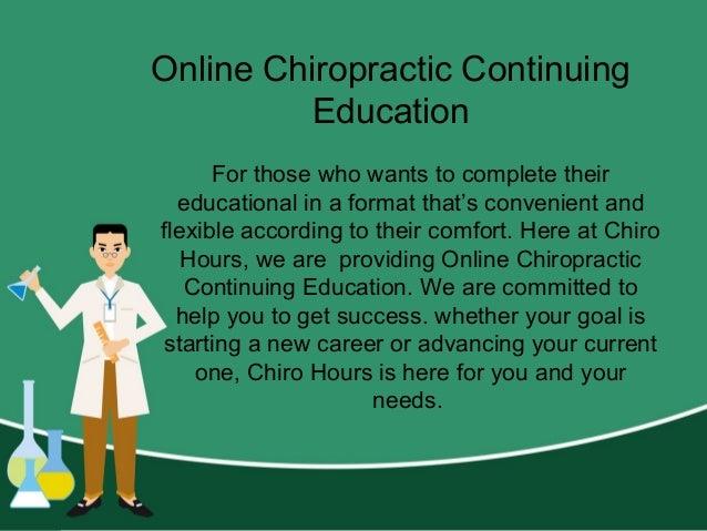 Chiropractic Seminars - Chiro Hours Slide 3