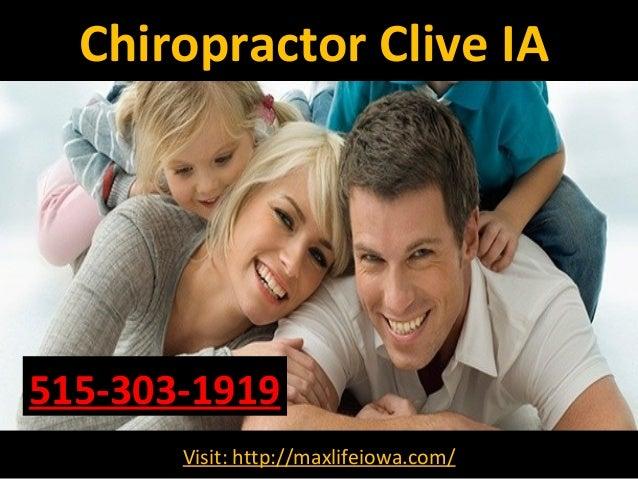 Chiropractor Clive IA Visit: http://maxlifeiowa.com/ 515-303-1919
