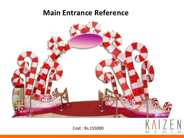 Promotion ActivitiesMain Entrance Reference Cost : Rs.155000