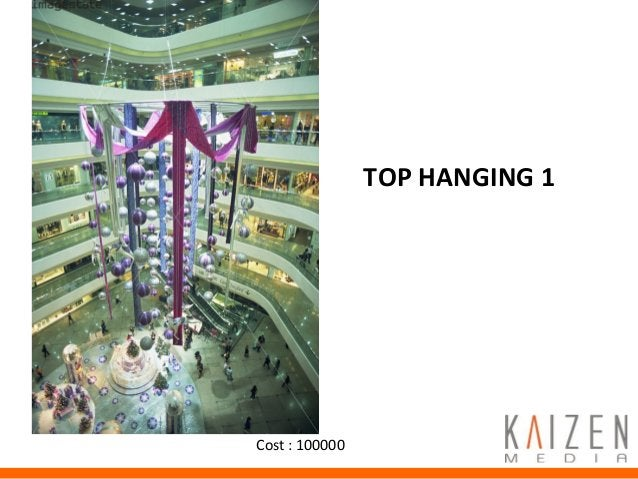 Promotion Activities TOP HANGING 1 Cost : 100000