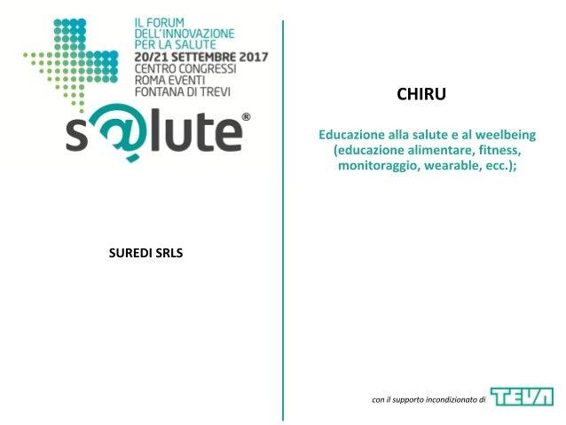 CHIRU - Presentazione - Premio Innova S@lute 2017