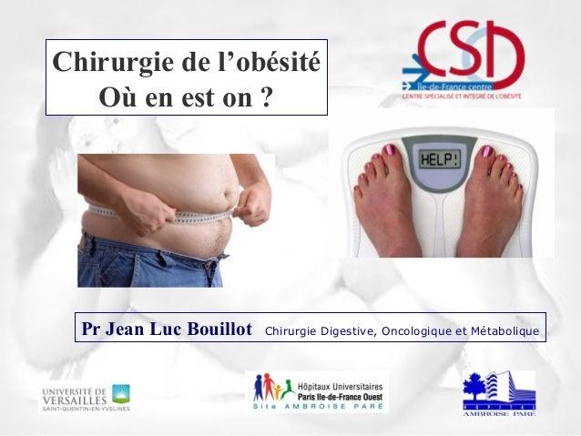 Chirurgie de l'obésité Où en est on ? Pr Jean Luc Bouillot Chirurgie Digestive, Oncologique et Métabolique