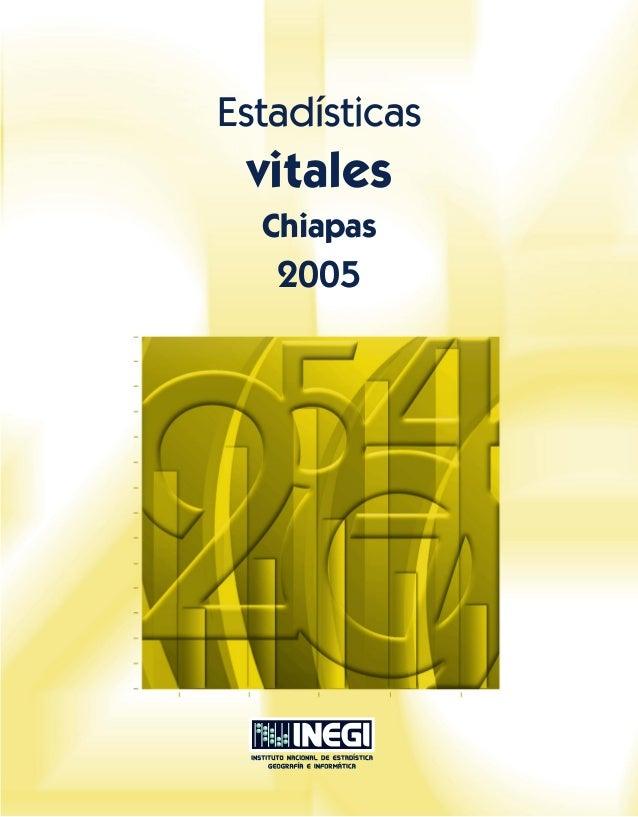 Estadísticas  vitales Chiapas  2005