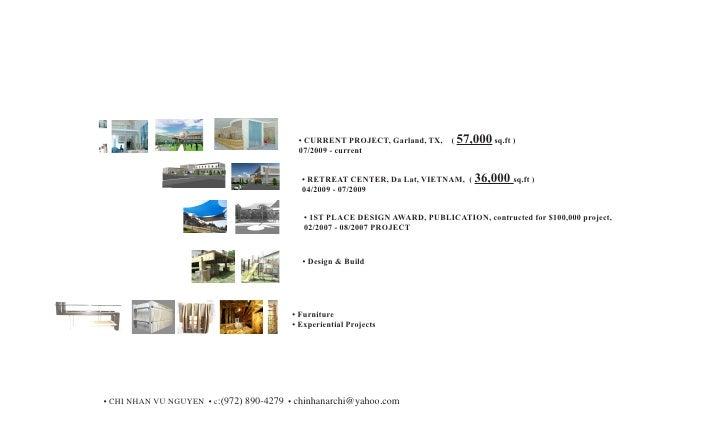 • CURRENT PROJECT, Garland, TX,    ( 57,000 sq.ft )                                           07/2009 - current           ...