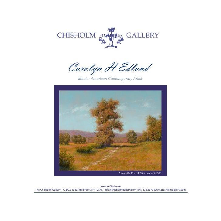 Carolyn H Edlund                                 Master American Contemporary Artist                                      ...