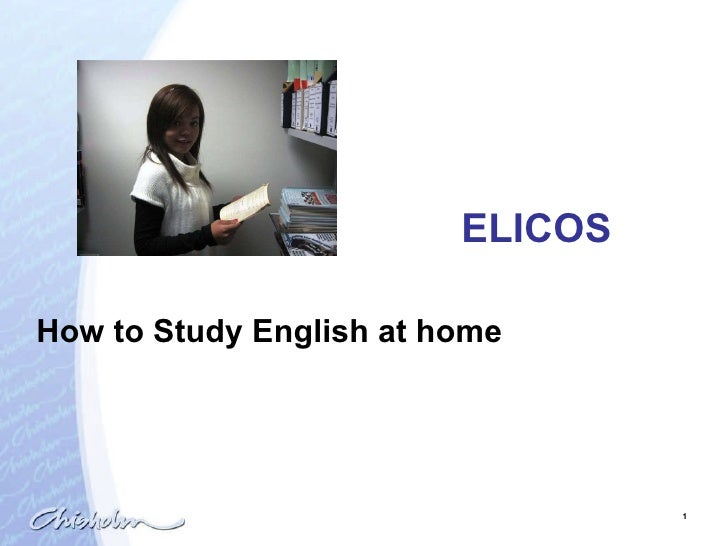ELICOS How to Study English at home