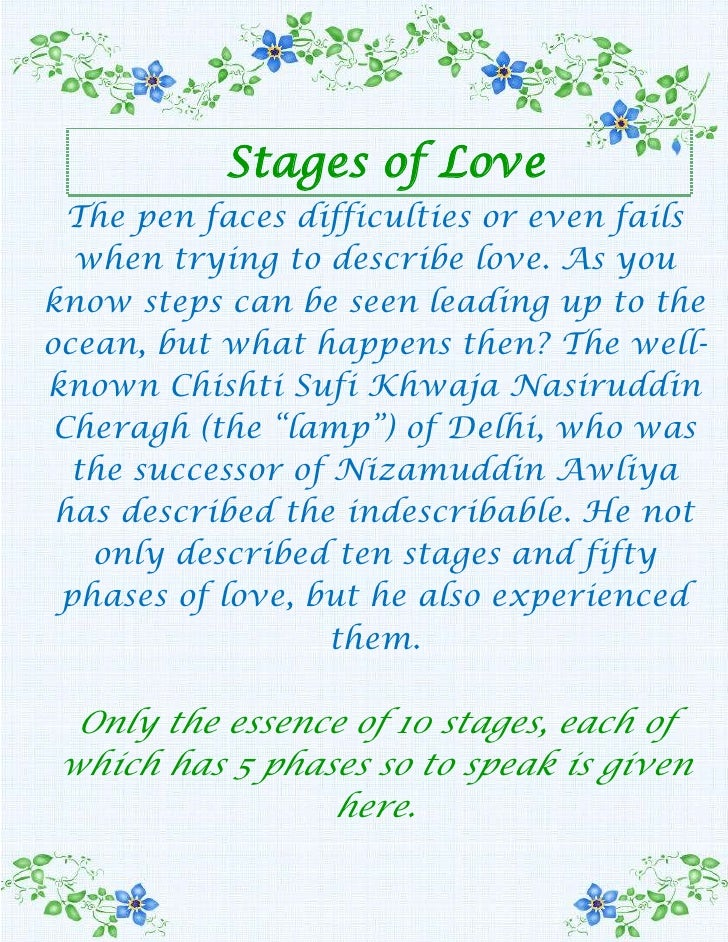 Stages of Love<br />The pen faces difficulties or even fails when trying to describe love. As you know steps can be seen l...