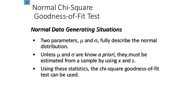 Normal Chi-Square Goodness-of-Fit Test • Two parameters, m and s, fully describe the normal distribution. • Unless m and s...