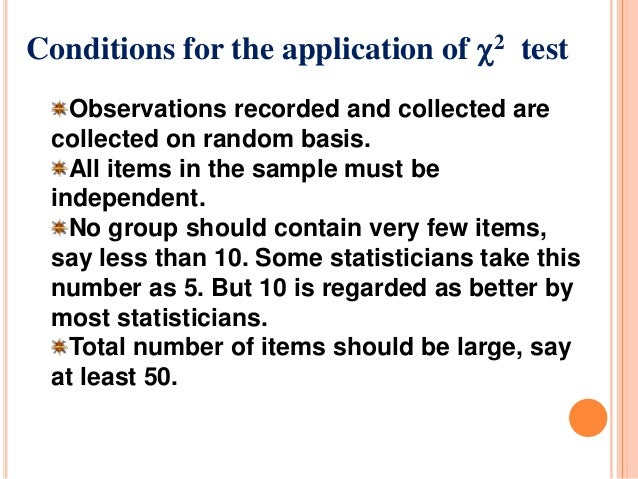 the chi square test The chi-square test is intended to test how likely it is that an observed distribution is due to chance it is also called a goodness of fit statistic, because it measures how well the observed distribution of data fits with the distribution that is expected if the variables are independent.
