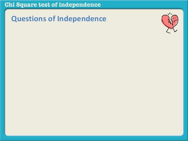 Chi Square Test Of Independence Conceptual