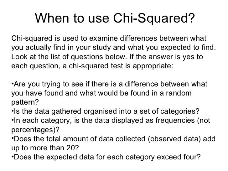 Chi Square Worked Example