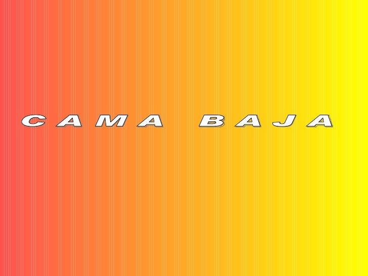 C A M A  B A J A