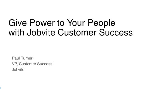Jobvite Summit'15 Chicago: Keynote - Jobvite VP of Customer Success Paul Turner