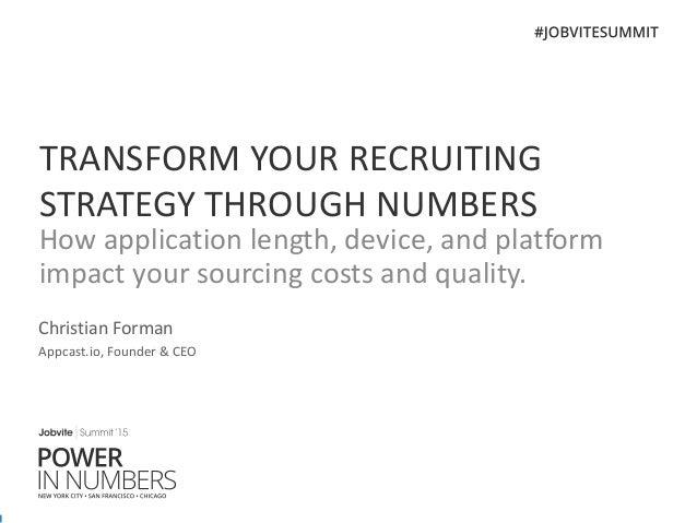 Jobvite Summit'15 Keynote - Appcast.io CEO/Founder Chris Forman