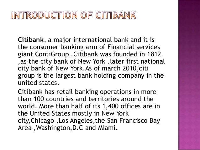 Citigroup Case Solution and Analysis, HBS Case Study ...