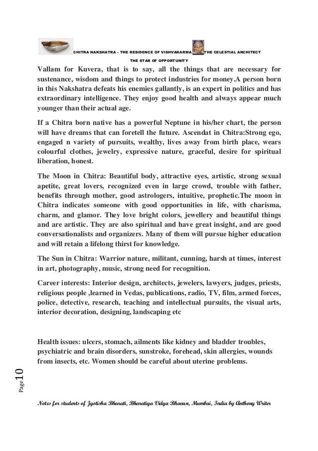 CHITRA NAKSHATRA- THE STAR OF OPPORTRUNITY - THE RESIDENCE