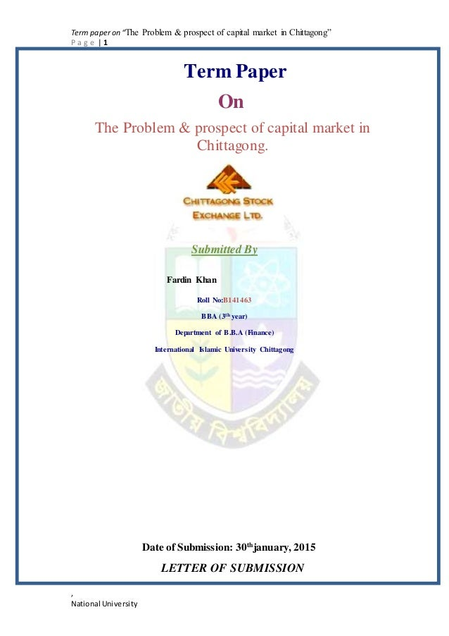 thesis on capital market in bangladesh