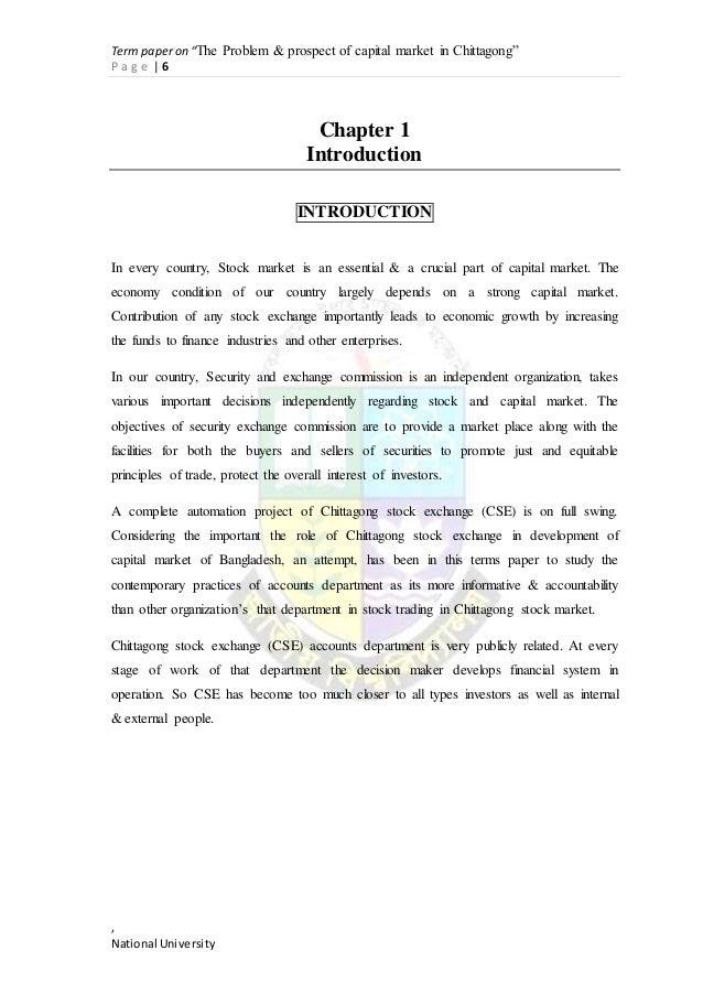 bangladesh capital market problems prospects