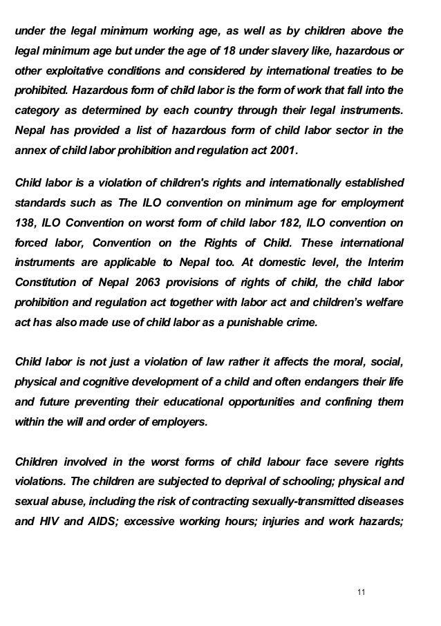 essays about child labour